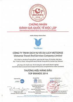 Vietsense Travel đạt top 10 giải thưởng du lịch Việt Nam
